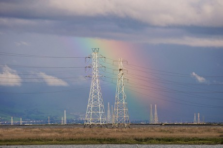 Photo Credit: Rainbow and Power Lines at the Palo Alto Baylands by Don DeBold