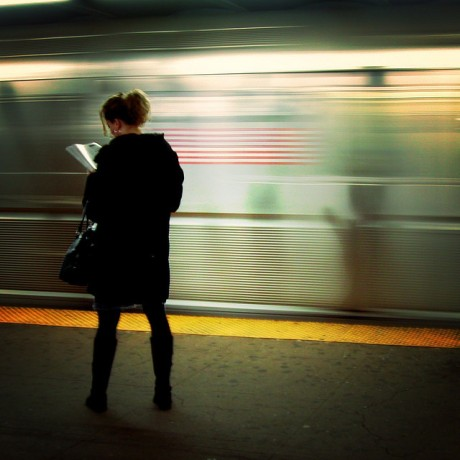 Photo Credit: On the platform, reading, by Mo Riza