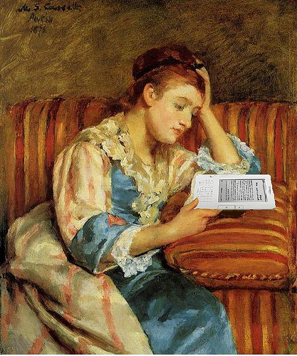 Photo Credit: Mrs. Duffee Seated on a Striped Sofa, Reading Her Kindle, After Marty Cassatt, by Mike Licht