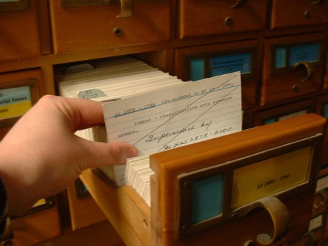 Photo Credit: Catalogue Cards, by Deborah Fitchett, via Flickr Attribution 2.0 Generic (CC by 2.0) license